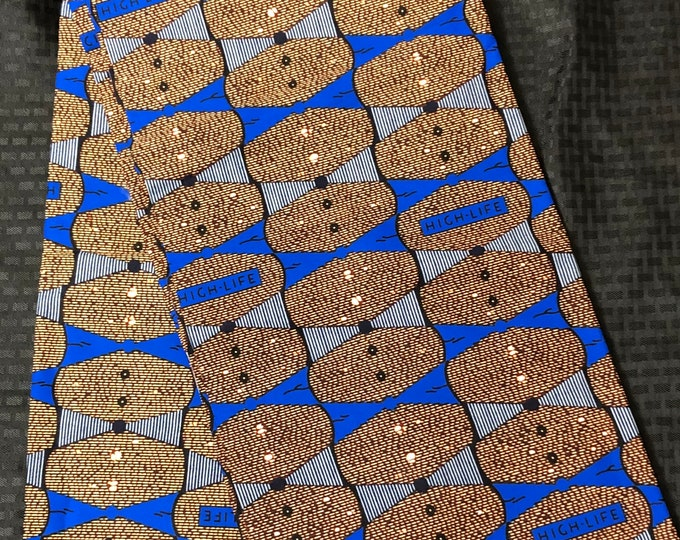 6 yard Blue  Brown highlife design African Fabric/African Wax print/ Ankara for Dress/ African cloth dolls/ African decor
