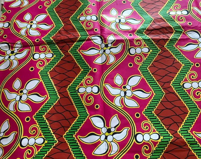 6 Yards African Fabric Waxprintslacesnmore
