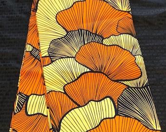 YBR64 6 yards Brown black Yellow orange african Fabric/African Wax print/ Ankara for Dress/ African cloth dolls/ African decor