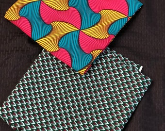MM349 3 yards each Blue fuchsia pink Mix Match Combo African Fabric/ African Wax Print/ ethnic Fabric/ African Material/ cloth/ sewing