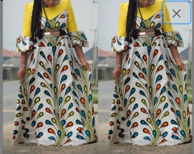 A1117  African fabric per yard  Blue orange rain drop tear bulb african Fabric/ african Wax print/ Ankara/ Material/ cloth/ wrapper