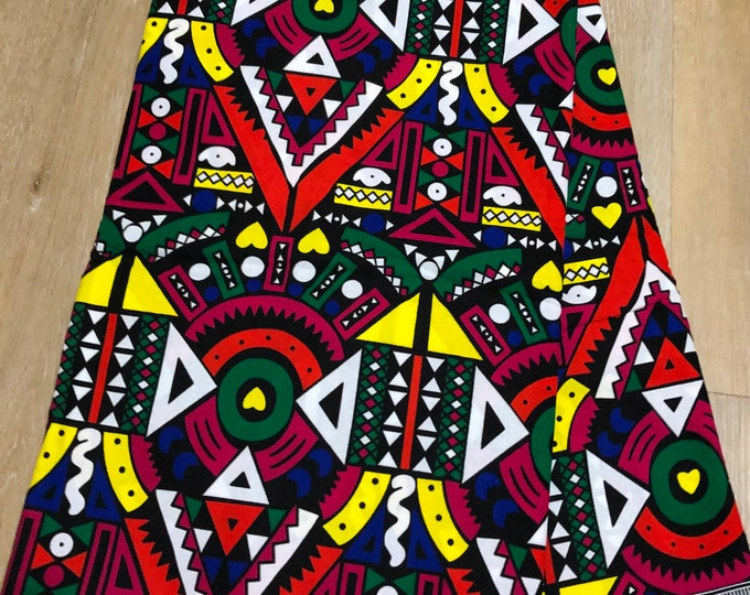 MC105  african fabric per yard multicolor pink green red yellow mud cloth  samacaca  ankara/ african Material/ Cloth/ wrapper/