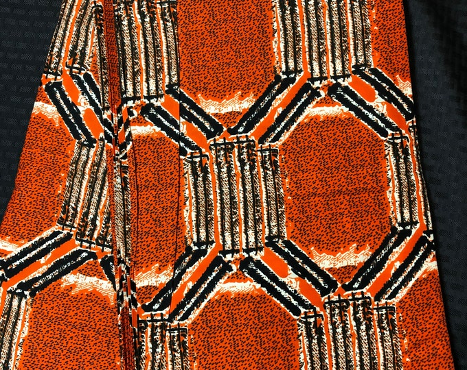 MC47 Per yard Black orange white mud cloth African fabric/ african print/ African clothing/ ethnic print/ African material
