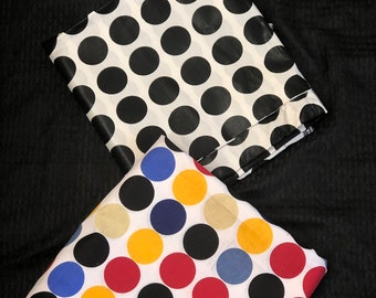 MM369 3 yards each yellow red blue White black polka dot Mix aNd Match African Wax/ African Fabric/ankara/ Material/ decor pillows/ african