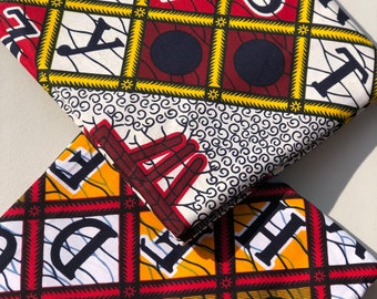MM234 3 yards each Mix Match  white yellow Red ABC African Fabric/ ankara/ african Wax Print/ ethnic print/ African Material/ Doll Cloth