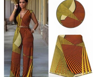 A1481 1 yard per yard brown white orange abstract Vlisco Ethnic Print/african fabric/ african home decor/ African Wax print/ Ankara