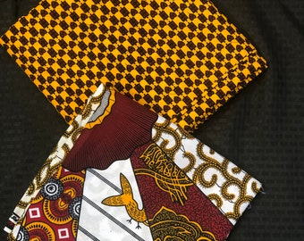 MM420 3 yard each Mix Match white yellow burgundy Red African Fabric/ ankara/ african Wax Print/ ethnic print/ African Material/ Doll Cloth