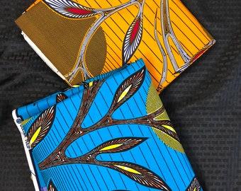 MM290 3 yard each Blue/ Yellow sun/ moon Mix Match set.African Fabric/ African Wax print/ Ankara/ African Material Cloth
