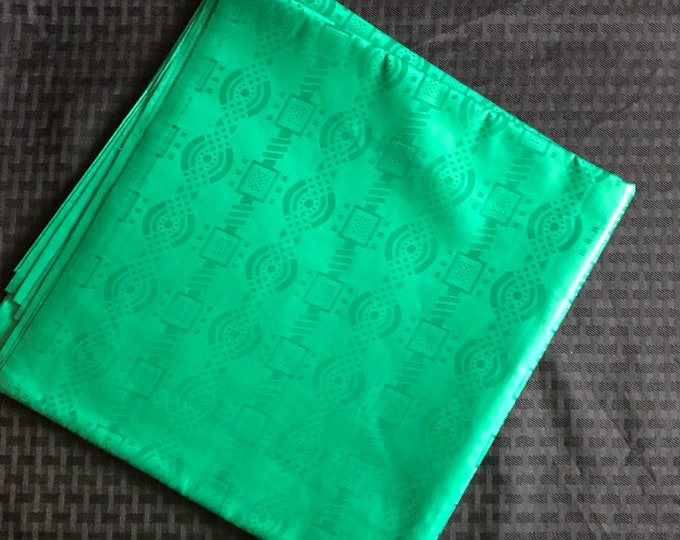 BB3 Bazin / Guinea Brocade African fabric per yard solid green Design Ankara/ African Wax print/ Material/ cloth/ ntoma