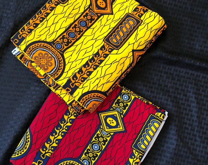 MM447 watch Mix Match african fabric pair Red/ orange Yellow African Fabric/ ankara/ african Wax Print/ ethnic print/ African Material