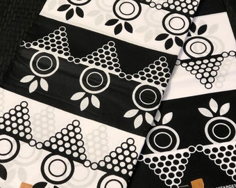 6 yards Black white  African  Fabric/ African Wax Print/ ankara/ ethnic cloth/ traditional cloth/ home decor pillow/ Doll cloth/ Sewing