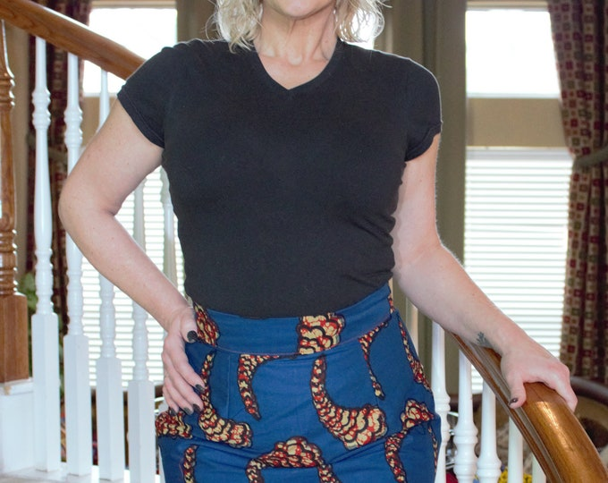 Ankara knee length pencil african fabric skirt / ethnic skirt / dashiki skirt / women wear/Ankara/African wax print skirt