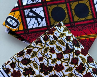 MM137 3 yards each Mix Match  white yellow Red ABC African Fabric/ ankara/ african Wax Print/ ethnic print/ African Material/ Doll Cloth