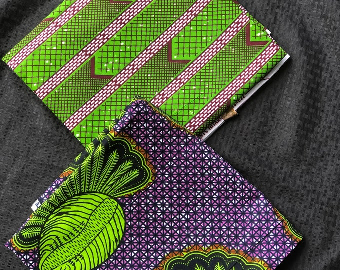 MM422 3 yards each Purple/ Green Mix and Match African Fabric/ African Wax print/ Ankara/ African Material/ African Cloth/ wrapper