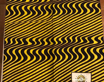 A6217 Yellow  purple 6 yard Biva  African Fabric/ African Wax print for Sewing Dress/ African cloth dolls/ African throw pillows/ Art craft
