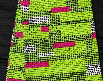 Ak64 6 yards african fabric Pink/ Green  African Wax print/ Ankara/ African Cloth/ Material/ Ghana/ Nigeria Fabric