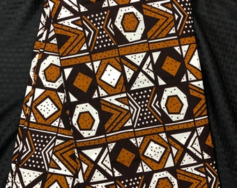 MC89 african fabric per yard black Brown white black mud cloth African Wax print/ Ankara for Dress/ African cloth doll
