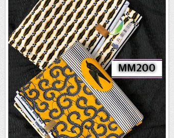 MM200 3 yards each white/yellow lips design African fabric/ African Print/ ankara/ african Material/ Doll Cloth/ ethnic print