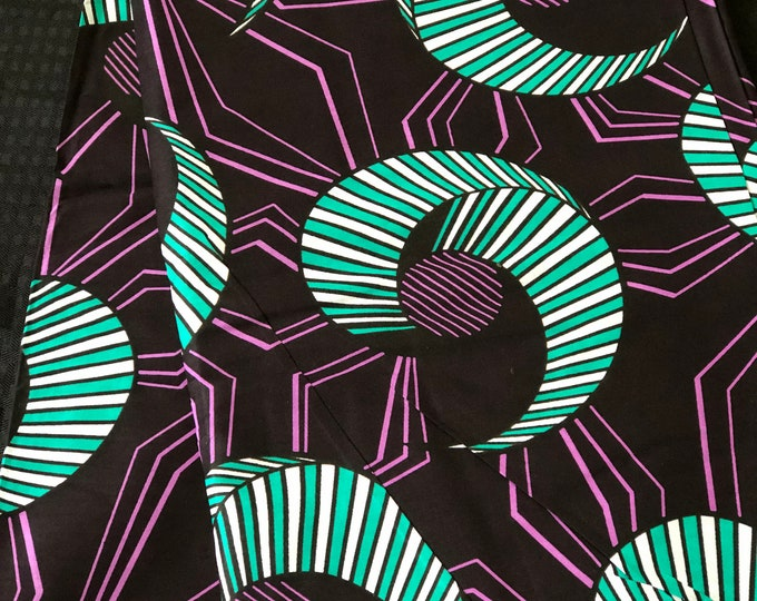 TP61 6 yards  purple white teal turquoise African Fabric/African Wax print/ Ankara for Dress/ African cloth dolls/ African d