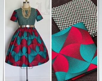 MM166 3 yards each teal Green red Mix Match African Wax/ African Fabric/ankara/ Material/ decor pillows/ african cloth dolls
