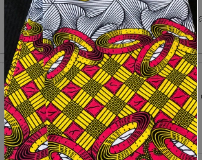 PIY12 per yard pink yellow white kitenge African Fabric/ African Wax print/ Ankara for Sewing Dress/ African hats/