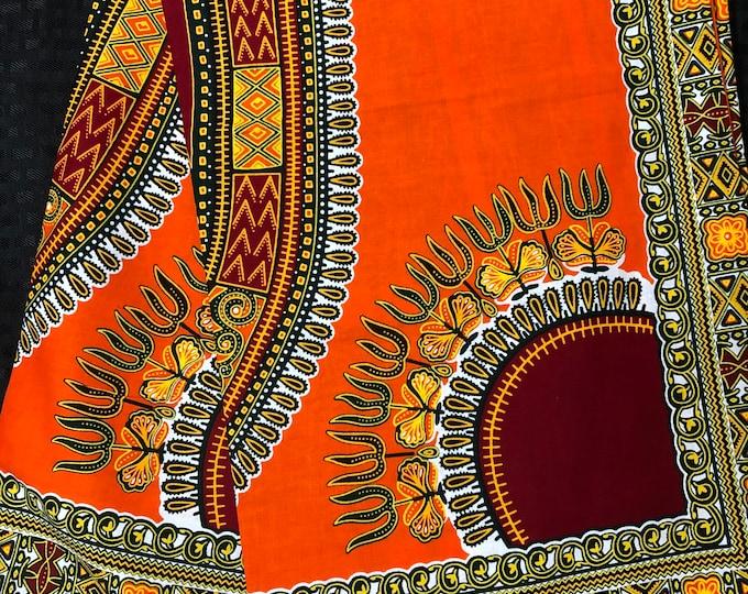 A6282 orange Dashiki Angelina 6yd wholesale African Fabric/ African Wax print/ Ankara for sew Dress/ Quilt/ african home decor/art craft