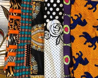 SC1 12x22 inch fat sixth african fabric/ Kitenge/ankara scraps