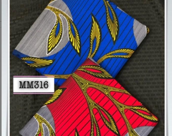 MM316 3 yards each Mix Match prints fabric pair Red/ Blue sun moon African Fabric/ African Cloth/ African Wax print/ ghana