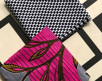 MM433 3 yards Each Pink /black sun Mix and Match African Fabric/ ankara/ african print/ Material/ ethnic print/Doll cloth