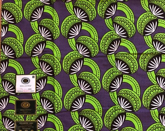 A6153 6 yard Purple Green  Design Doll Cloth/ african Material/ ethnic fabric /African Fabric/African wax print/ Ankara