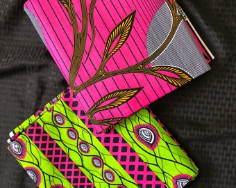MM450 3 yd Each fuchsia Pink /apple green white Mix and Match African Fabric/ ankara/ african print/ Material/ ethnic print/Doll cloth
