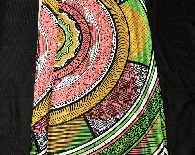 LY3 pink green 4 way Stretch Jersey fabric per yard african lycra Print for swimsuit/ Lycra african ethnic Print/ stretch fabric/yard