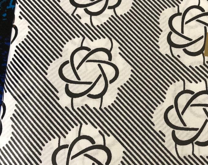BW63 6 yards floral Obaapa african fabric Black white Obaapa Print/ ankara/ ethnic cloth/ traditional cloth/ home decor pillow/ Doll cloth