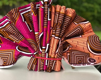 MM117 3 yards Each Pink orange brown Mix and Match African Fabric/ ankara/ african print/ Material/ ethnic print/Doll cloth