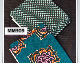 MM309 3 yards each Mix and Match honeycomb turtl shell Teal Blue Design African Fabric/ African Cloth/ African Wax print/ ghana