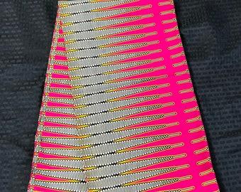 A6209 6 yard  pink and beige Nkrumah pencil African Fabric/ African Wax print/ Ankara for Sew Dress/ shirt/ african pillow
