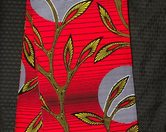 RY123 Sun moon leaf African fabric by yard yellow gold red African Wax print: Ankara for Sew Dresses/African art/tribal print