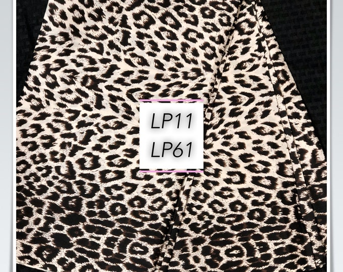 LP61 6 yd black white leopard African fabric/ african print/ African clothing/ African home decor/ ethnic print/ African material
