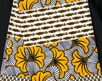 White/ yellow 6 yards lip floral ludo salad African Fabric/ African Wax print: Ankara for Sewing Dresses/ shirts/ African art/ Doll/decor