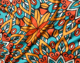 LY1 Floral  4 way Stretch Jersey African fabric per yard african lycra Print for swimsuit/ Lycra african ethnic Print/ stretch fabric/yard