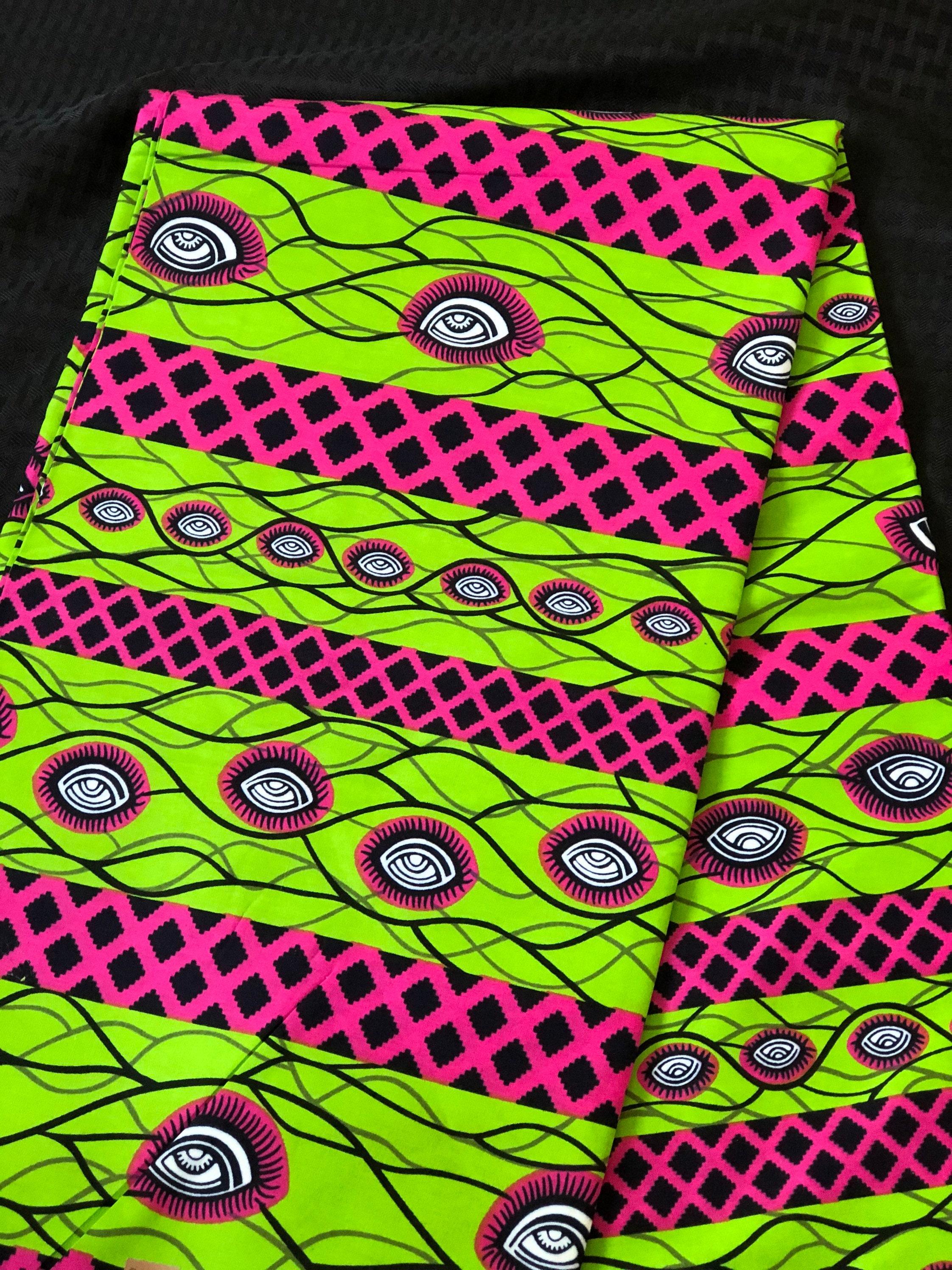 Ak20 african fabric per yard Pink Green African Wax print Ankara African Cloth Material Ghana Nigeria Fabric