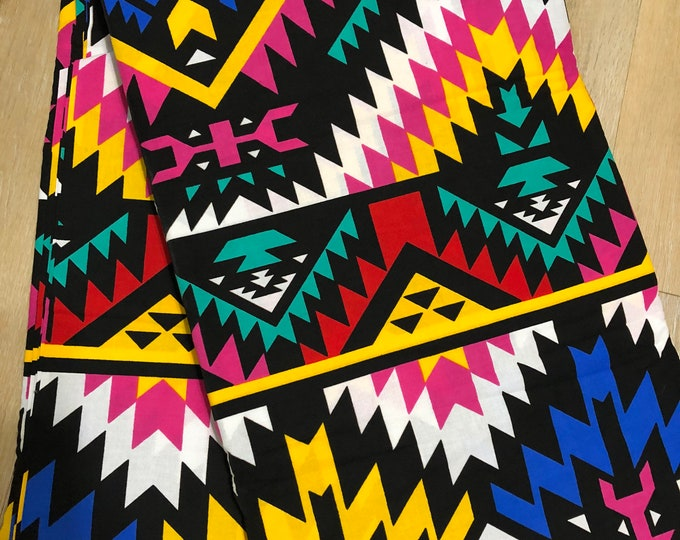 MC146 per yard yellow/ pink Blue yellow pink fiesta african Fabric/ kente Wax print/ kente cloth/ Material/head wrap/ethnic tribal print