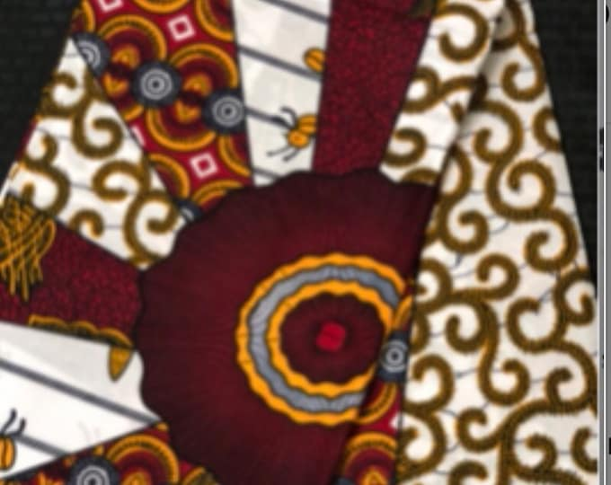 BR60 6 yards  Burgundy red  and White Design African Wax print/ African Fabric/ Ankara/ ghana Cloth/ Material