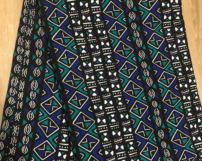 MC150 per yard Teal Green  blue mudcloth Design African Fabric/ African Wax print/ Ankara/ African Material/ cloth/ wrapper