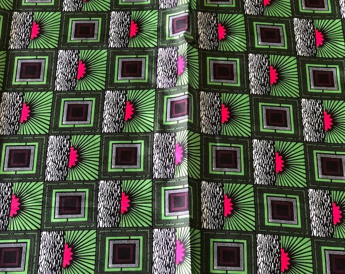 SK5 5 yards Silk Pink green Bow sunrise gorgeous African Silk print/ african silk fabric/ ethnic silk fabric/ African doll cloth