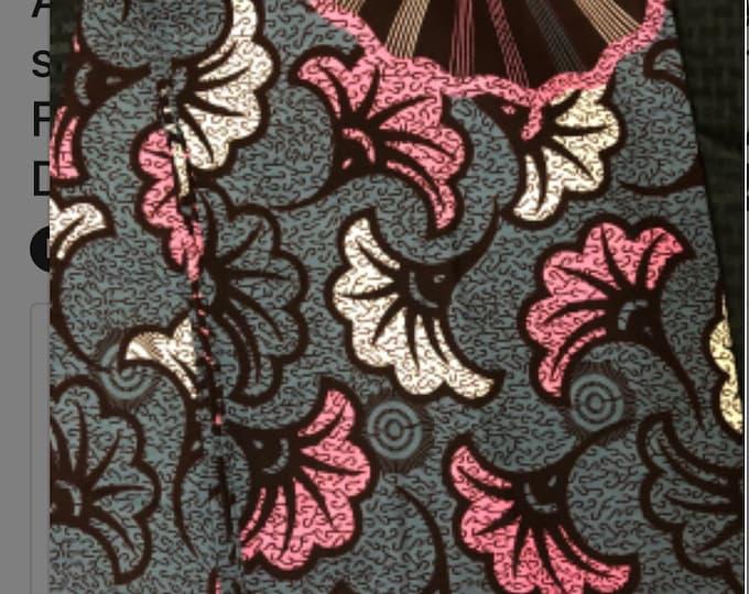 A1465 african fabric per yard floral petal  White gray Pink African Wax print/ Ankara/ African Cloth/ Material/ Ghana/ Nigeria Fabric
