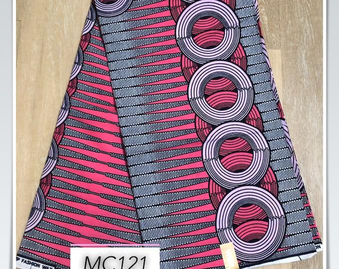 MC121 1 yard fuschia Pink grey pencil circle Design African Fabric/African Wax print/ Ankara/ Sew Dress/ african table napkins/