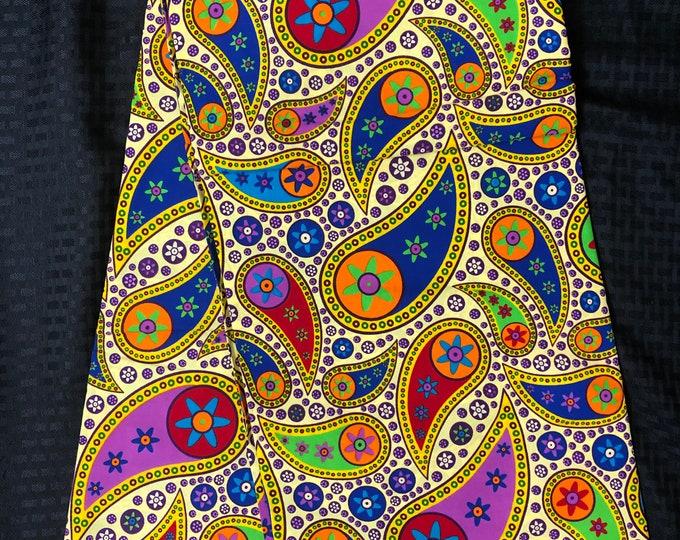MC99 per yard yellow/ pink Blue green pink floral paisley african Fabric/ kente Wax print/ kente cloth/ Material/head wrap/ethnic tribal
