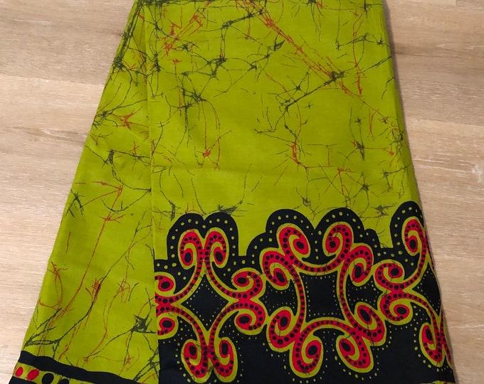 MC91 African fabric per yard apple Green black red Batik tie dye  print wholesale African Wax print/ Ankara/ ghana Cloth/ Material