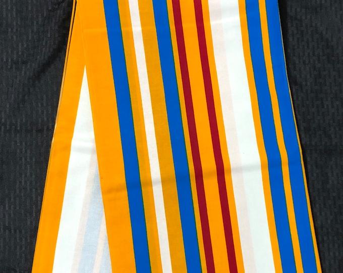NK12 African fabric per yard Yellow red Blue white Northern Ghana kente Kitenge African Wax print/ Ghana fabric/ material.